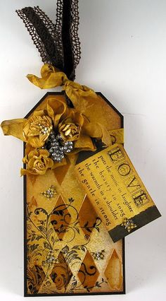Wendy Vecchi Gold Embossing Paste, Verses Rubber Stamps, Hero Arts, Tattered Angels,