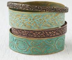 blue bracelets, love them