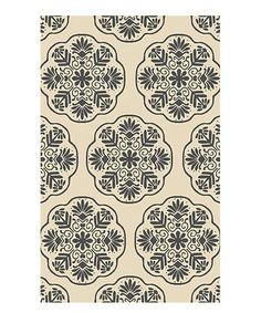 Another great find on #zulily! Ivory & Charcoal Willow Wool Rug by Safavieh Rugs #zulilyfinds