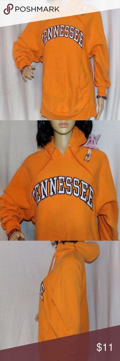 Tennessee Hoodie Embroidered Very Heavy Tennessee Hoodie Embroidered Very Heavy Steve & Barry's M LOW and FAST Shipping. They just don't make them like this anymore! Very heavy It is in very good to excellent vintage to excellent condition and was EXPENSIVE and is made of 80/20  Cotton Poly Blend to keep you warm. 4 Reference, our Supermodel Denise's Measurements are 32-24-33. BUNDLE 2 or more items & get a BIGGER DISCOUNT or make an OFFER Fairies Love Offers :) Steve & Barry's Tops…