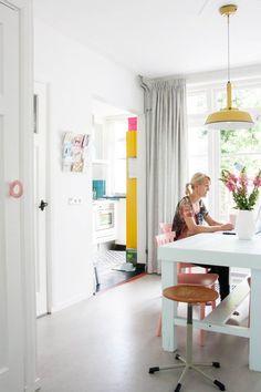 Home Tour: Bright + Cheerful Dutch Row House