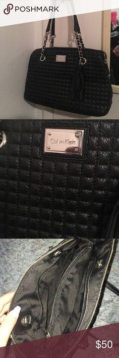 Calvin Klein handbag Calvin Klein quilted handbag with tassel in great condition Calvin Klein Bags Shoulder Bags