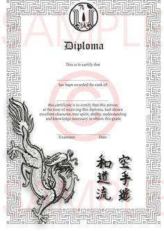 XRedPhoenixJapaneseCertificateSampleLjpg D - Martial arts gift certificate template