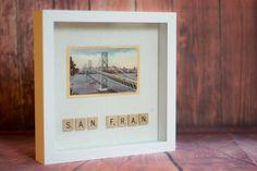 San Francisco Oakland Bay Bridge l'art Vintage par CraftyCryer