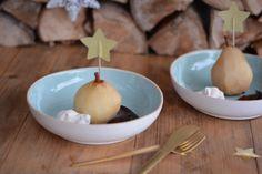 Gepocheerde peer met chocolade en kaneelroom | Kerstrecept | Taste Our Joy!