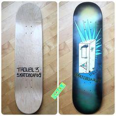 Punko Bots - TROUBL3 SKATEBOARDS Custom Decks | TROUBL3 Skateboards Custom Skateboards, Custom Decks, Everything Changes, Skateboarding, Skateboard, Skateboards, Surfboard