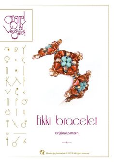 Beading tutorial / pattern Eikki bracelet with super kheops. Beading instruction in PDF – for personal use only by beadsbyvezsuzsi on Etsy