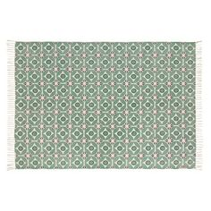Cotton Rug with Green Graphic Motifs on Maisons du Monde. Take your pick from our furniture and accessories and be inspired! Day Room, Diffused Light, Outdoor Rugs, Warm Colors, Victorian Homes, Soft Furnishings, Home Improvement, Sweet Home, Shabby Chic