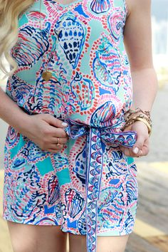 Lilly Pulitzer Dusk Romper Multi Shell Me About It
