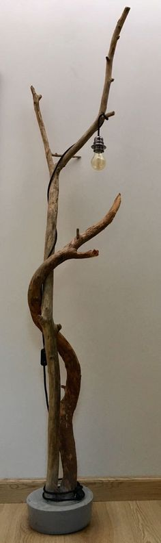 Adam and Eve Driftwood / Concrete Lamp by Treeoflightbelgium - lamp Concrete Lamp, Tissue Paper Flowers, Dyi, Lamp Design, Pretty Pictures, Diy And Crafts, House Design, Balcony, Centerpieces