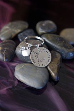 Personalized Teacher Keychain - To Teach is to Touch a Life Forever...