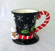 Snow Angels Candle christmas candle scented by NorthernLitesGifts Christmas Candles, Christmas Crafts, Christmas Decorations, Soy Candles, Scented Candles, Snowman Images, Melted Snowman, Hanukkah Gifts, Candle Containers