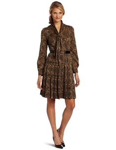 Amazon.com: Anne Klein Women's Paisley Print Dress: Clothing