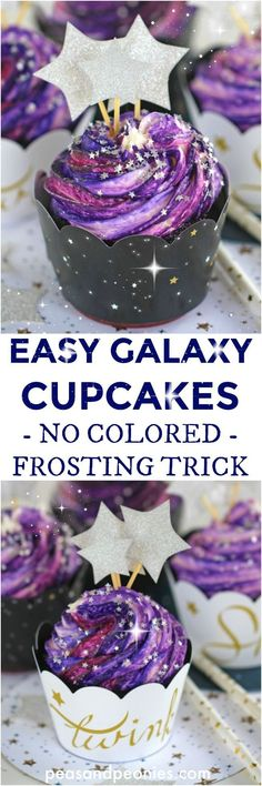 Galaxy Cupcakes are made easy with the