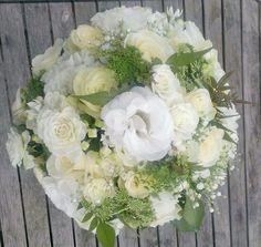 Textured white bridal bouquet including some Jasmin from the garden! The Garden Studio. www.gardenstudioevents.co.uk