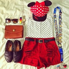 Disney outfit- I have that hat! Cute Disney Outfits, Disney World Outfits, Disneyland Outfits, Disney Inspired Outfits, Disney World Trip, Disney Style, Outfits For Teens, Summer Outfits, Cute Outfits
