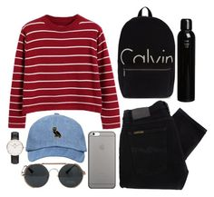 """Untitled #181"" by marinenymphs ❤ liked on Polyvore featuring Chicnova Fashion, Calvin Klein, Nudie Jeans Co., Native Union, Daniel Wellington and Oribe"