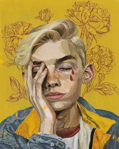 Nikki shik 🌹 #art #draw #illustration #boyillustration #yellow #drawing