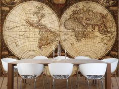 Eazywallz  - Old map Wall Mural, $120.68 (http://www.eazywallz.com/old-map-wall-mural/)