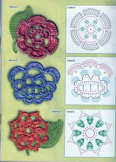 Crochet Knitting Handicraft: Irish motifs