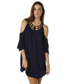 SASS TANGLED WEB WOMENS DRESS - NAVY