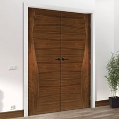 Contemporary Design Cadiz Walnut Prefinished Door Pair
