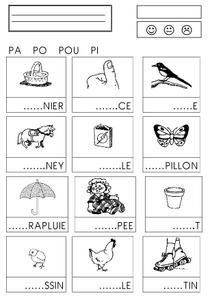syllables with p Read In French, French Kids, Learn French, Art Education Lessons, French Education, Kids Education, Early Learning, Kids Learning, French Worksheets