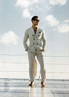 All About Gandy–Selling a lifestyle like no other, David Gandy boards a yacht for the spring/summer 2011 edition of Vogue Hommes International. David James Gandy, David Gandy Suit, Summer Suits, My Guy, The Life, Perfect Man, To My Future Husband, Vogue Paris, Stylish Men