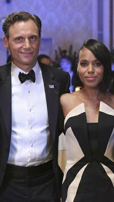 Tony Goldwyn and Kerry Washington. #scandal