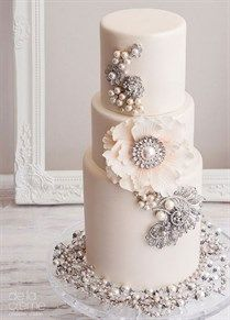 Wedding cake with serious bling