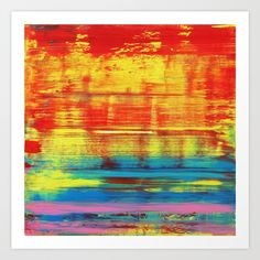 Collect your choice of gallery quality Giclée, or fine art prints custom trimmed by hand in a variety of sizes with a white border for framing. Artwork Prints, Fine Art Prints, Canvas Prints, Red And Teal, Blue Yellow, Colorful Abstract Art, Affordable Art, Buy Frames, Metal Wall Art