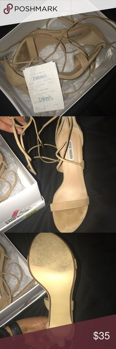 Steve Madden lace up the leg heels Worn once, in great condition, box & receipt included with purchase. Make an offer! Steve Madden Shoes Heels