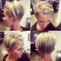 cool 30+ Nice Braids for Short Hair Check more at http://frisuren-haarstyle.com/30-nice-braids-for-short-hair/