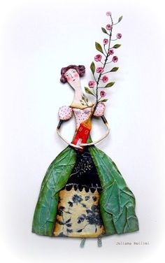 Juliana Bollini - inspirational photos on Flickr. Paper Clay, Paper Art, Clay Art, Paper Crafts, Soft Sculpture, Ceramic Art, Altered Art, Art Dolls, Assemblage Art