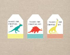 dinosaur party favor tags printable by paperkitedesigns on Etsy Dinosaur Party Favors, Dinosaur Birthday Party, 4th Birthday Parties, 3rd Birthday, Birthday Ideas, Dinasour Party, Water Party, Party Favor Tags, Party Printables