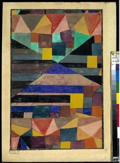 Paul Klee, Blauer Berg (Blue Mountain) on ArtStack Kandinsky, Gouache, Abstract Expressionism, Abstract Art, Geometric Painting, Abstract Paintings, Oil Paintings, Landscape Paintings, Paul Klee Art
