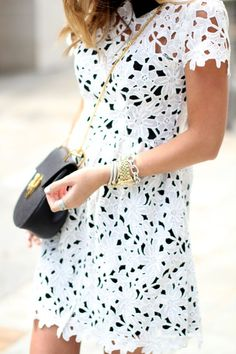 White   Black Lace   Classic Accessories