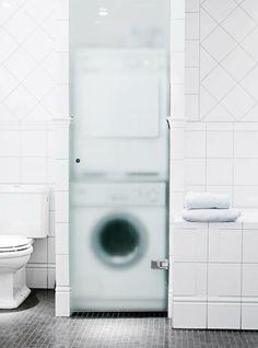 Tvättpelare inbyggd
