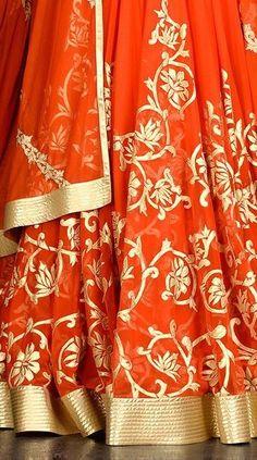 Orange & Gold detail