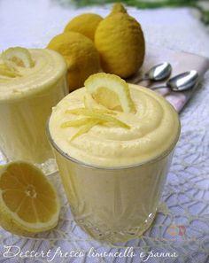 Dessert fresco limoncello e panna