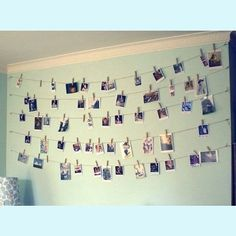 Photo line i love this idea going to try it out on my room, because i feel my room is a bit boring and blank!