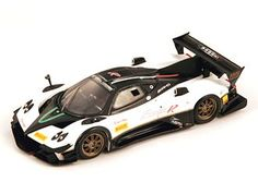 Spark 1:43 Pagani Zonda Resin Model Car S3562 This Pagani Zonda R Evo (2012) Resin Model Car is Black and White and features comes in a display case. It is made by Spark and is 1:43 scale (approx. 10cm / 3.9in long).