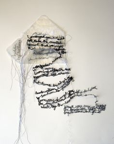 'a letter' by maria wigley all rights reserved embroidery textiles poetry… Art Textile, Textile Artists, Textile Design, Embroidery Works, Embroidery Stitches, Embroidery Letters, Book Art, Fabric Manipulation, Art Plastique
