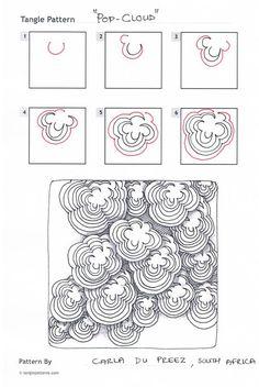Tangle pattern: pop cloud