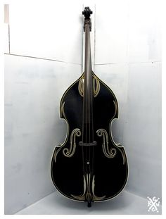 Pin striped Rockabilly upright standup double bass. X)