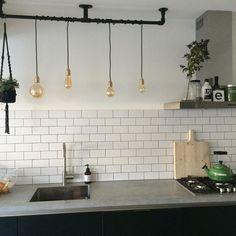 Metabes - Home, Craft and Diy Kitchen Diner Designs, Kitchen Themes, Kitchen Layout, Apartment Interior, Kitchen Interior, Kitchen Living, New Kitchen, Studio Kitchen, Updated Kitchen