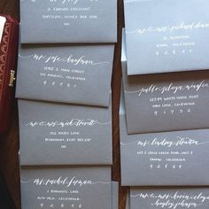 Calligraphy envelopes by KAKalligraphy
