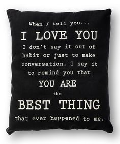 'I Love You' Pillow | zulily
