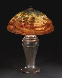 ** HANDEL, LANDSCAPE TABLE LAMP