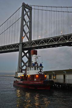 Pier 35 fire boat in San Francisco
